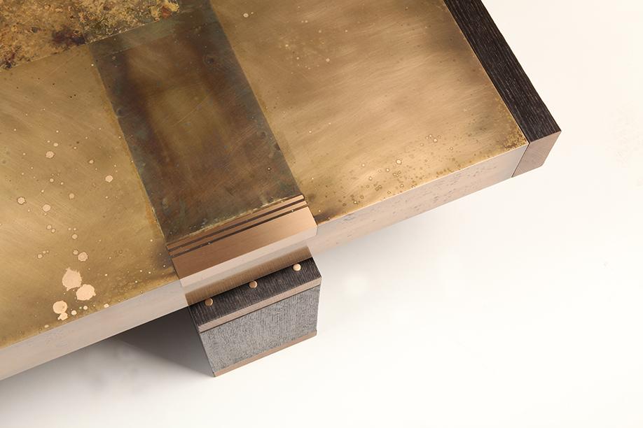 Custom Built Bronze Coffee Table