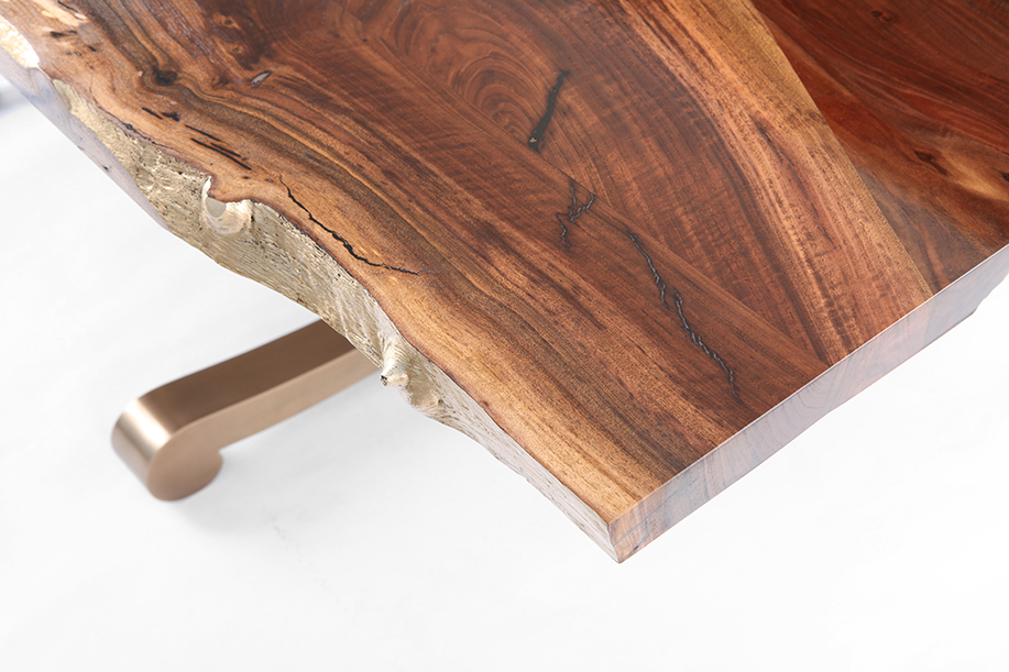 Custom slab walnut table