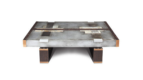 DIVIDED LANDS Zinc Coffee Table