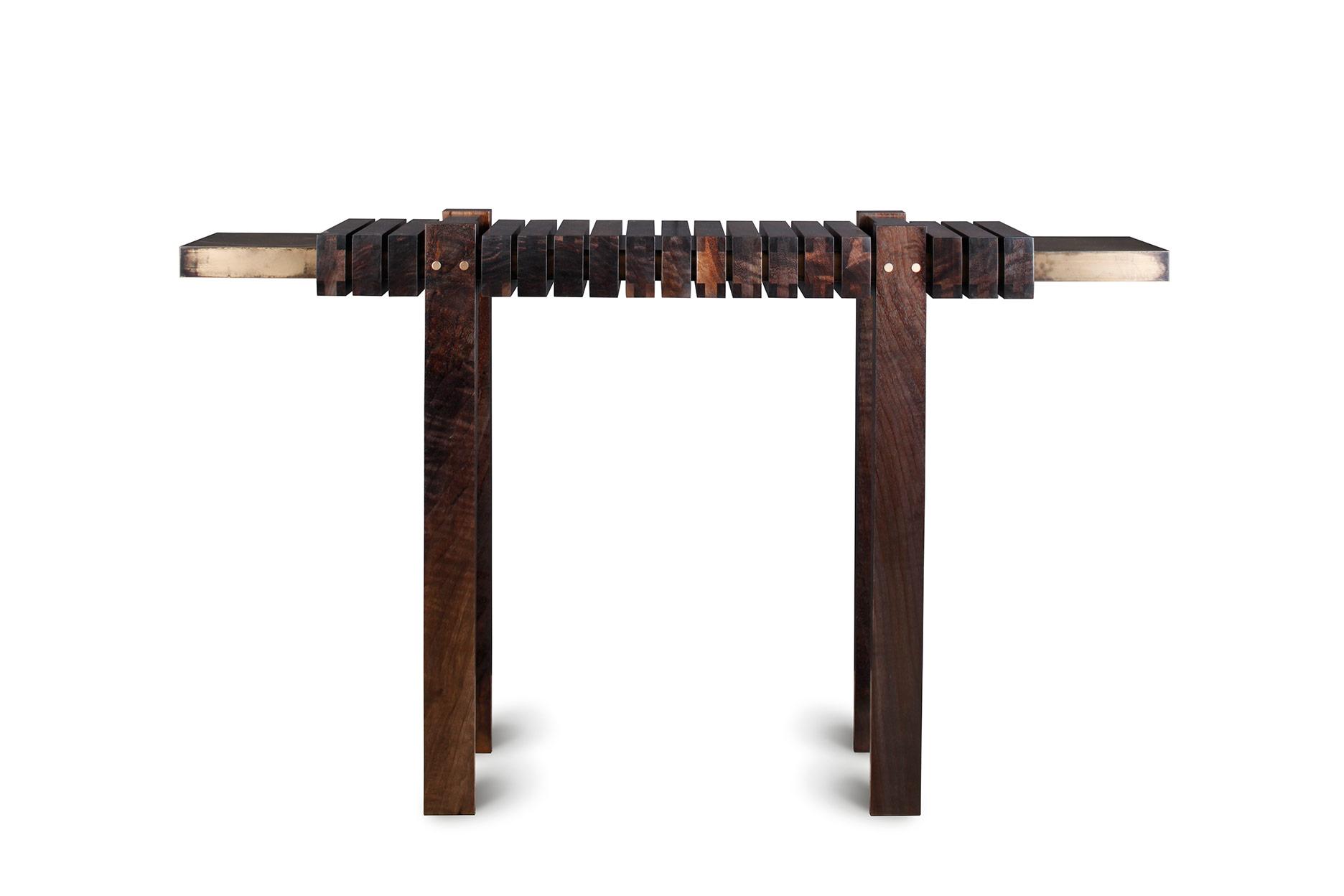 Unique artisan console table